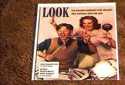 Look Magazine 1940  Oct 8  Fine+ File Copy Mickey Rooney Judy Garland Hitler