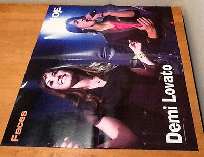MILEY CYRUS AND DEMI LOVATO  Double-Sided Magazine  COLOR Pull-Outs 16 x 22""