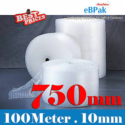 PICKUP - 750mm x 100M Meter Bubble Wrap Roll Bubblewrap - CLEAR 10mm Bubble