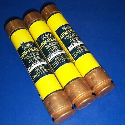 Buss 60A Low Peak Dual Element Time Delay Fuse Lps-Rk-60Sp *lot Of 3*