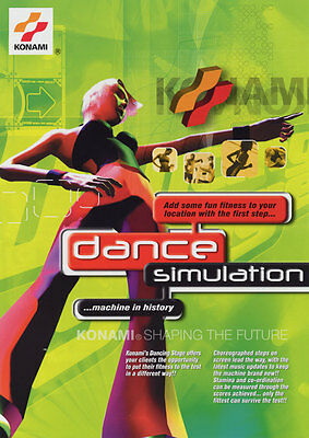 Arcade, Jukeboxes & Pinball Arcade Gaming 1999 Konami Dancing Stage Video Flyer Mint Attractive Appearance