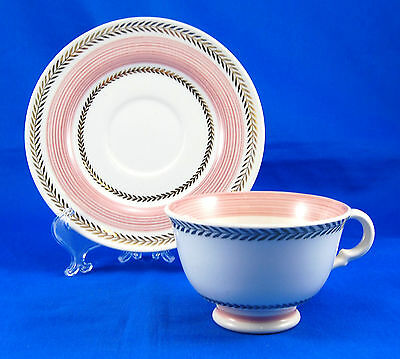 American Limoges Candle Light LYCEUM ROSE Footed Cup and Saucer Set 2.375 in.