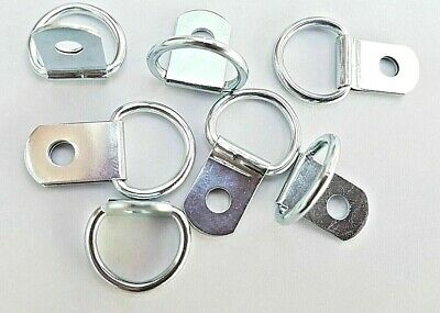 Picture Frame D Ring x 200 Canvas Hangers 28mm x 17mm Strong Nickel Plated Hooks