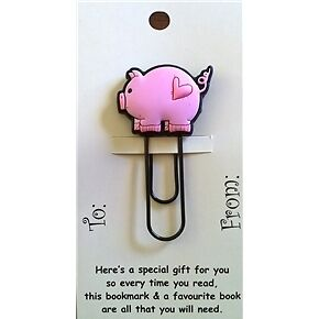 Pig Funky Paper Clip Style Bookmark/Gift Card Party Bag/Loot Bag