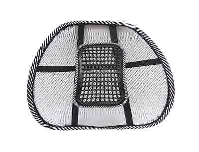 Auto Car Seat Chair Massage Back Lumbar Support Cushion with Mesh Ventilate Pad