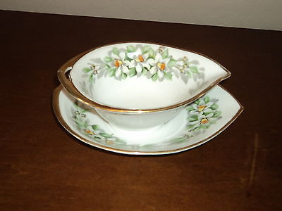 Beautiful Vintage Nippon Gravy Boat or serving piece with saucer