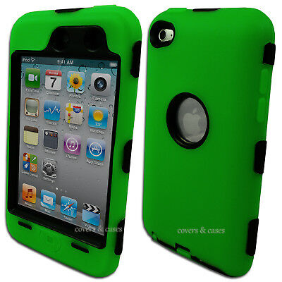 NEW Green Heavy Duty Cover Case for iPod Touch 4 4th Gen 4G Tough Protective
