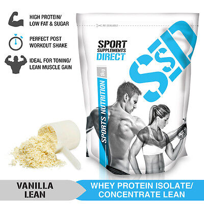 2Kg Vanilla Lean Whey Protein Isolate / Concentrate - Lean Wpi / Wpc 2 X 1Kg