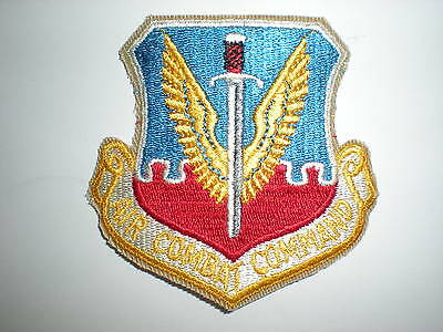 USAF AIR COMBAT COMMAND ACC PATCH WITH GOLD LETTERS - COLOR