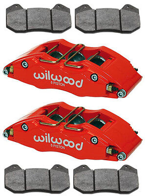 "Wilwood Dynapro 6 Brake Calipers & Pads,dp6,rally Car,road Racing,0.81"",3"",red"