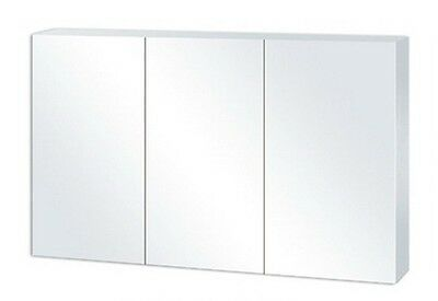 New 1200mm Mirror Shaving Cabinet Pencil Edge Door 2pack Gloss White Finish