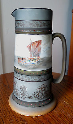 Decorative Arts C2579 Royal Beyreuth Pitcher With Sheep In Mountain Meadow