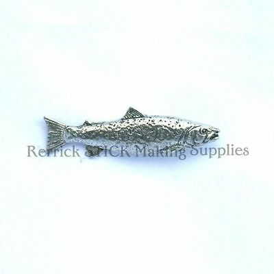 One Pewter Badge For Walking Stick Making Brown Trout
