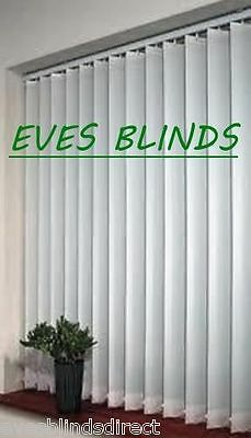 Premium Quality White Vertical Window Blinds Made to Measure 89mm
