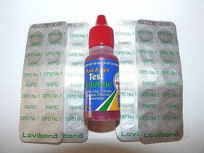 2 in1 Refill Test Kit-50 DPD1 Tablets & PH Phenol Red Solution-Pools and Spas