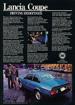 1979 Lancia Beta Coupe - blue - Classic Vintage Advertisement Ad D19