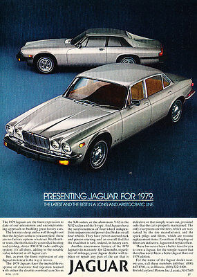 1979 Jaguar XJ6 XJS - Classic Vintage Advertisement Ad D19