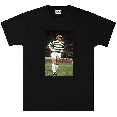 Billy McNeill Lisbon Lions Celtic T Shirt New Black or White