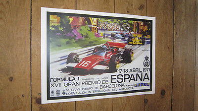 Formula1 F1 Barcelona Spain 1971 Repro Race POSTER