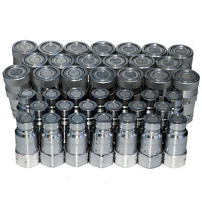 """20 sets of 1/2"""" Flush-face Skid-Steer Hydraulic Hose Quick Disconnect Couplers"""