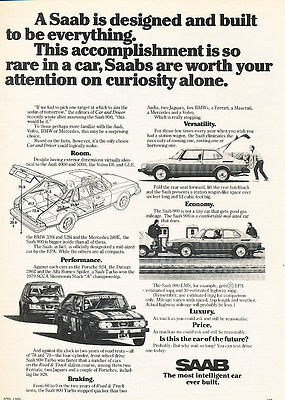 1980 Saab - Everything - Classic Vintage Advertisement Ad D29