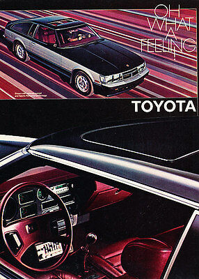 1981 Toyota Celica Supra - Feeling - Classic Vintage Advertisement Ad D30