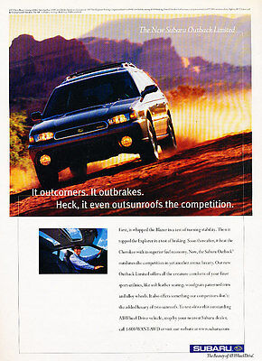 1998 Subaru Outback Limited - Classic Vintage Advertisement Ad H02
