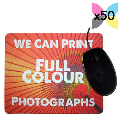 50 Wholesale Bulk Buy Personalised Promotional Mouse Mat Gifts Your Logo Printed