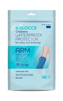 Waterproof Protector for Casts & Dressings- Child Short Arm - Age 10-14- Bloccs