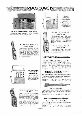 1932 Ad Irwin, Russell Jennings  Auger Bit Sets, Brad Awls, Gimlets, Dividers