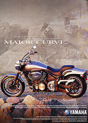 2003 Yamaha Motorcycle - Curve - Classic Vintage Advertisement Ad D32