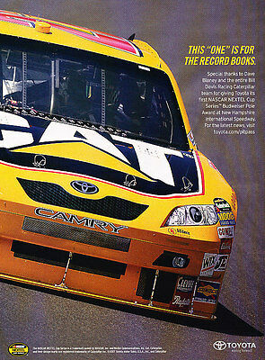 2007 Toyota Camry  - Record - Classic Vintage Advertisement Ad D36