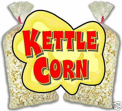 Kettle Corn Korn Concession Food Truck Cart Stand Menu Decal Sticker 14""