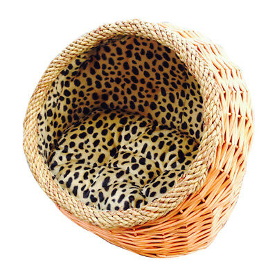 Handmade hooded wicker basket4dogs&cats,dog basket,cat bed.Inner&Cushion mayvary