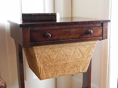 an early 19th century mahogany work table sewing box or coffee table