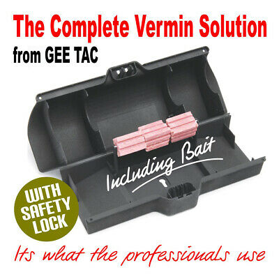 Gee Tac  Rat / Rodent Pro Large  Bait Box Station For Vermin Poison