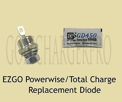 EZGO POWERWISE TOTAL CHARGE RECTIFIER DIODE 18488G1 28548G01 w/HARDWARE