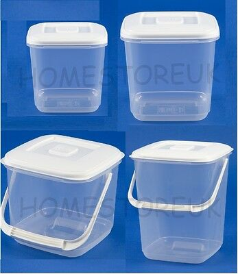 Whitefurze Plastic Canister Food Storer Storage Container With/without Handle