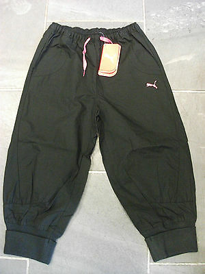Puma girls Africa woven 3/4 pants Black Brand new with tags SIZE 26,28, 30 NEW