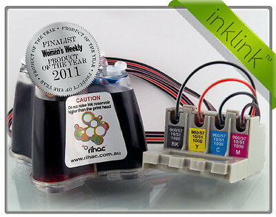 RIHAC CISS Brother LC37 LC57 Cartridge Refill Ink System for DCP MFC CIS Inklink
