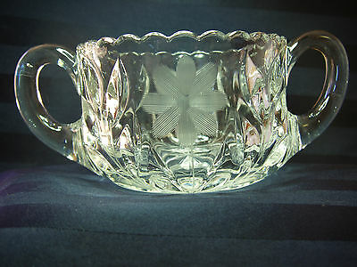ABP CUT CRYSTAL CREAMER & SUGAR ** FREE SHIPPING **