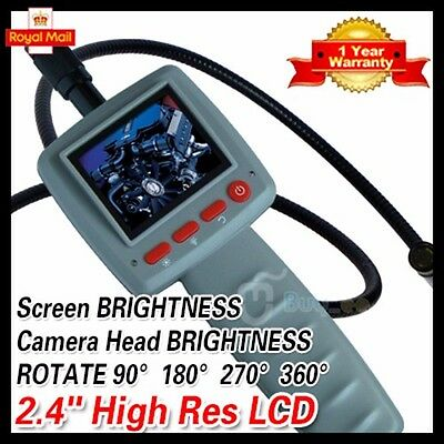 2.4 Digital Video Inspection Borescope 1m Endoscope Pipe 10mm Camera Snake Scop
