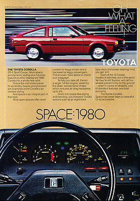 1980 Toyota Corolla SR-5 - Space - Classic Vintage Advertisement Ad D45