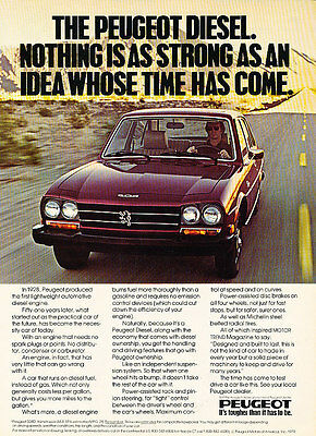 1979 Peugeot 504D - Idea - Classic Vintage Advertisement Ad D44