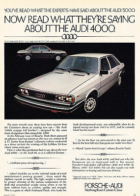 1979 Audi 4000 - Read - Classic Vintage Advertisement Ad D44