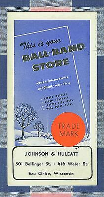 Old Ink Blotter Johnson & Huleatt Eau Claire Wisconsin Ball-Band Store
