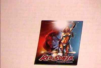 RED SONJA #1 PHILLY NON SPORTS SHOW  PROMO CARD #1 BREYGENT VF/NM
