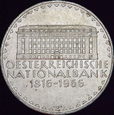 1966 National Bank MS Austria Silver 50 Schilling - KM# 2900 - Free Shipping