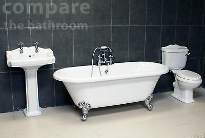 Traditional Bathroom Suite Legend Edwardian Classic Freestanding Roll Top Bath