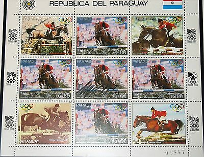 PARAUGAY 1988 Klb 4200 2244 Equestrian Olympics Seoul H. G. Winkler Signature